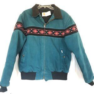 Vintage Carhartt Aztec Blanket Lined Jacket | L.